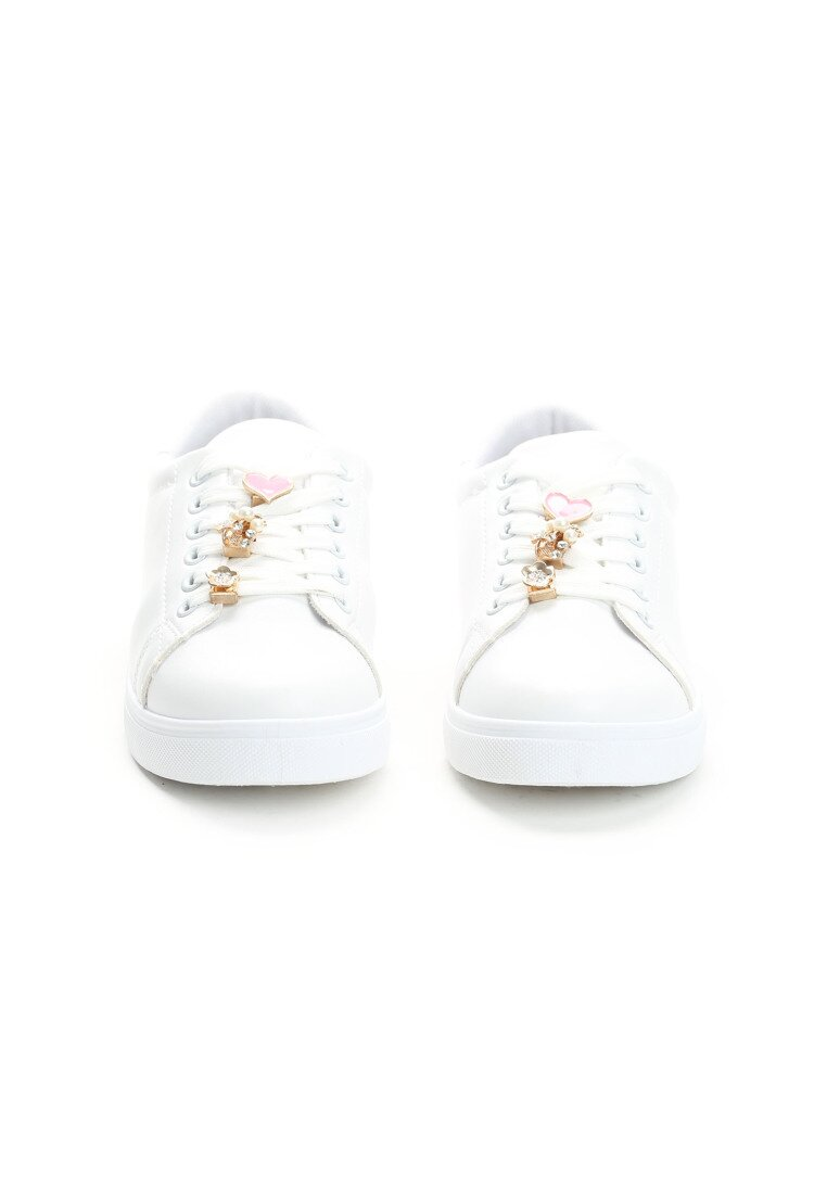 Białe Buty Sportowe Pin