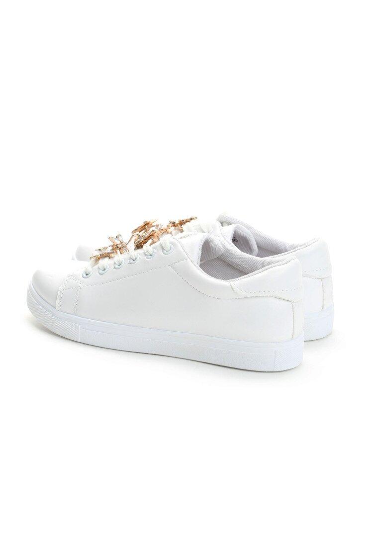 Białe Buty Sportowe Diamond Buterfly