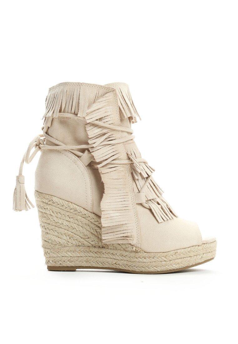 Beżowe Sneakersy Sheev