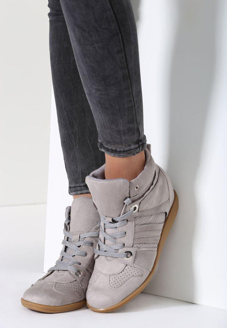 Szare Sneakersy Terab