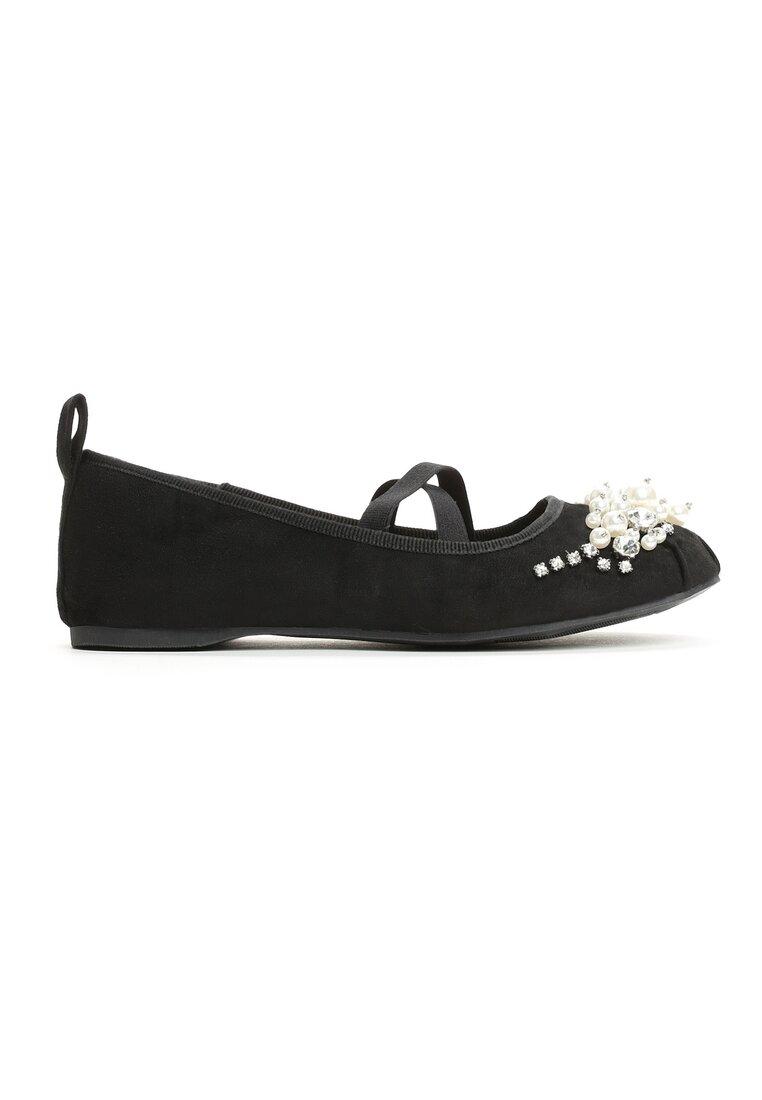 Czarne Balerinki Fleur De Lis