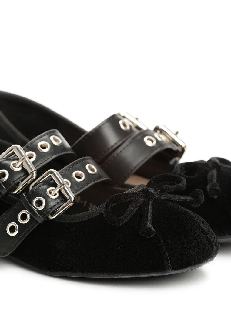 Czarne Balerinki Bead And Reel