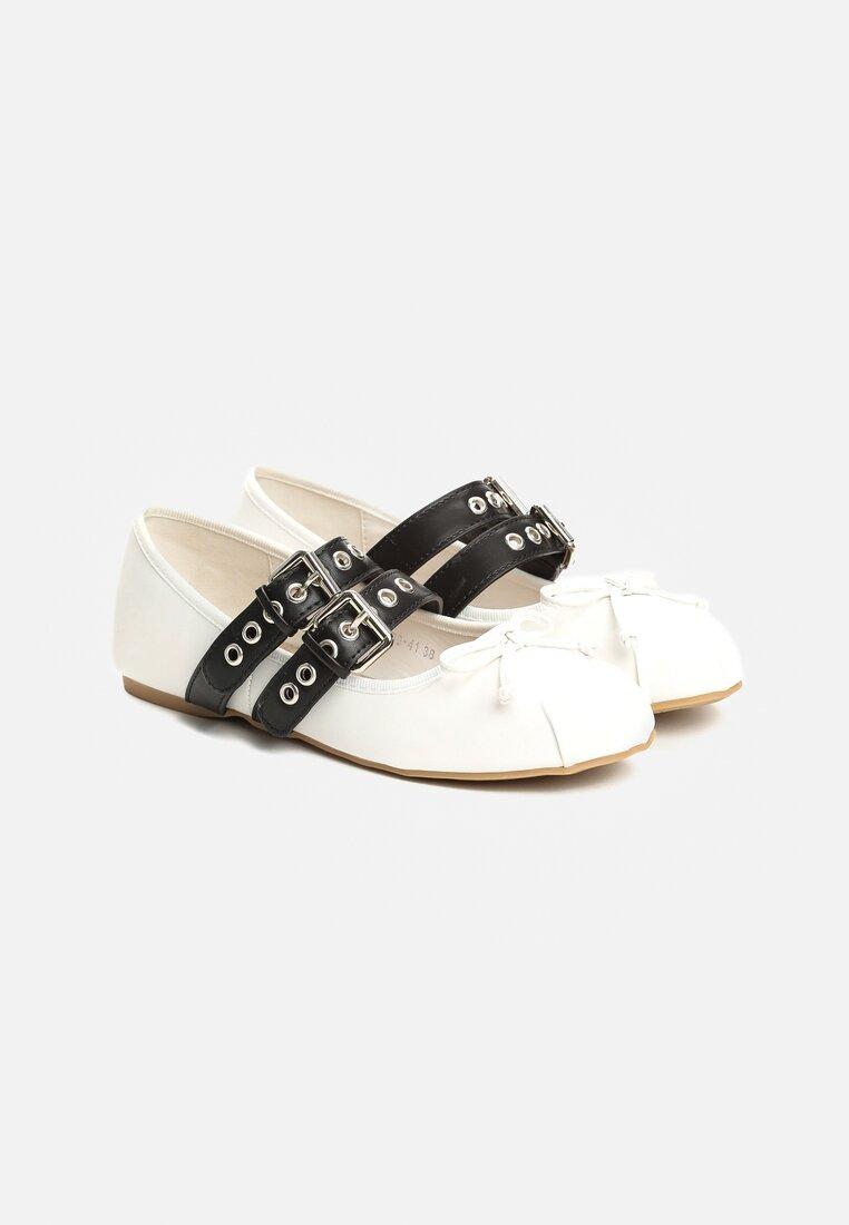 Białe Balerinki Trellis
