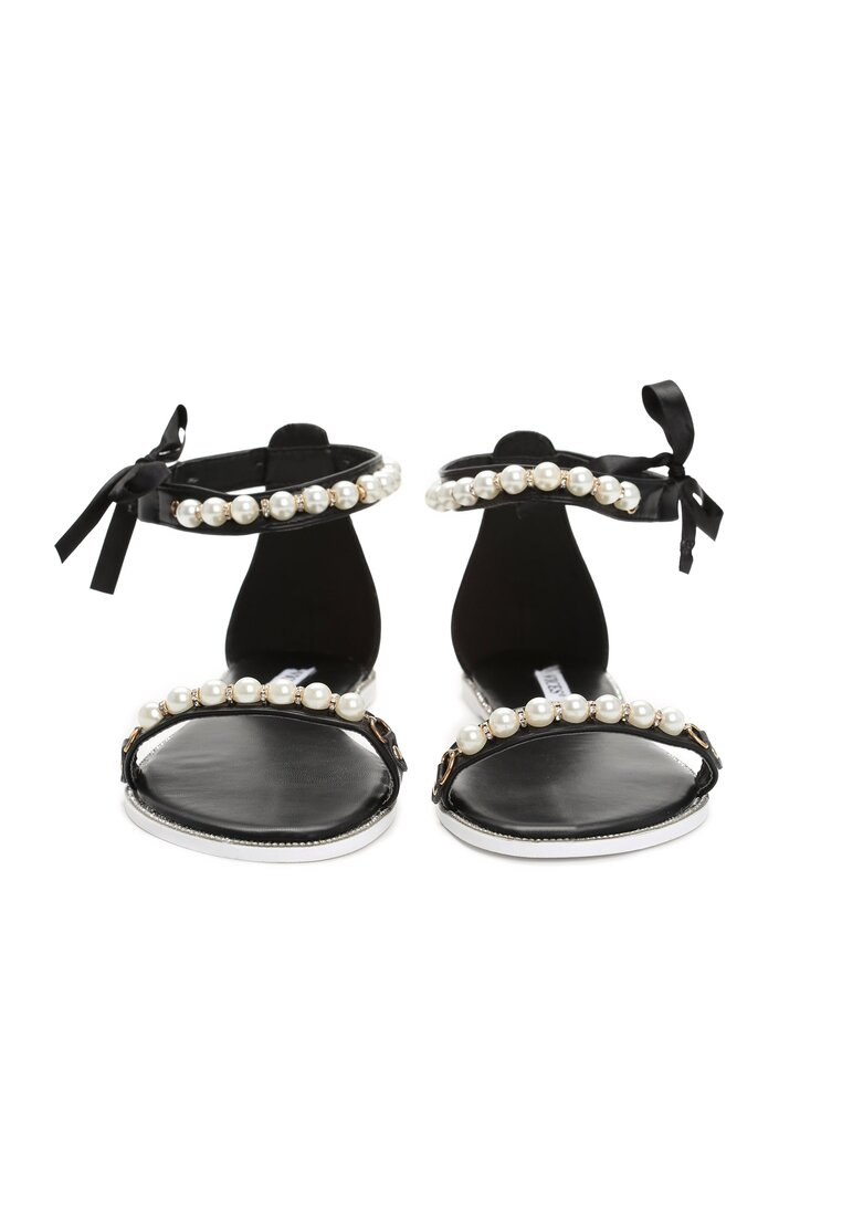 Czarne Sandały Diva