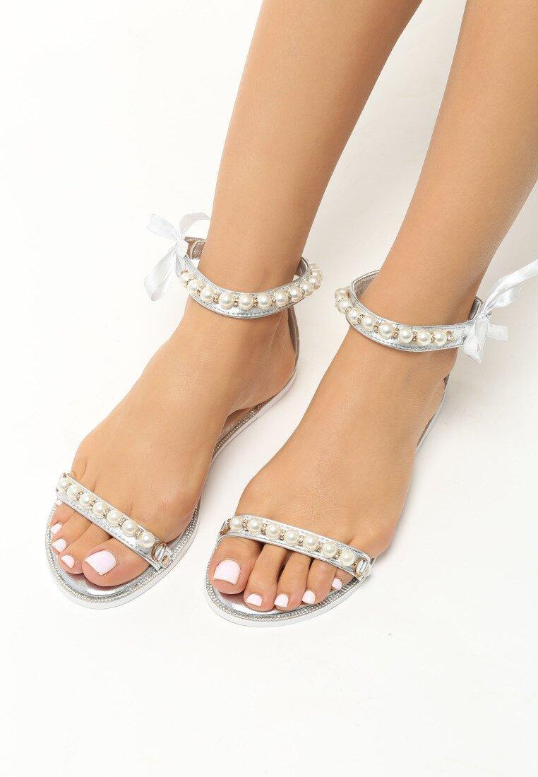 Srebrne Sandały Diva