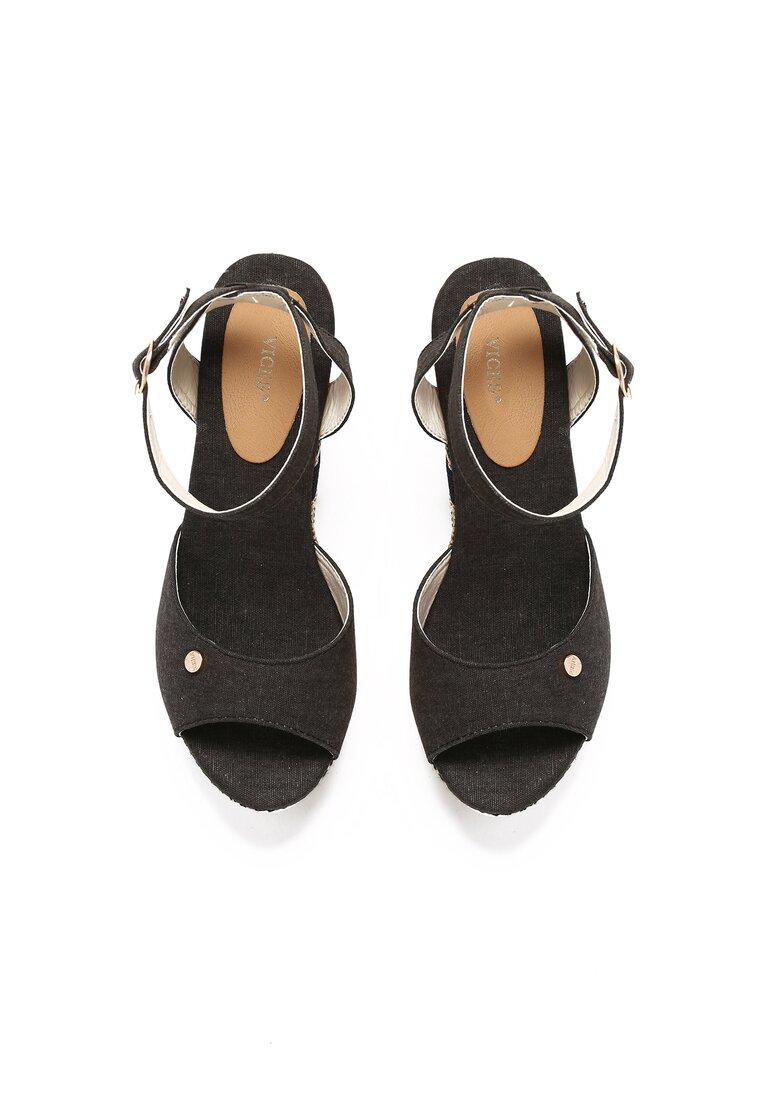 Czarne Sandały Virtue