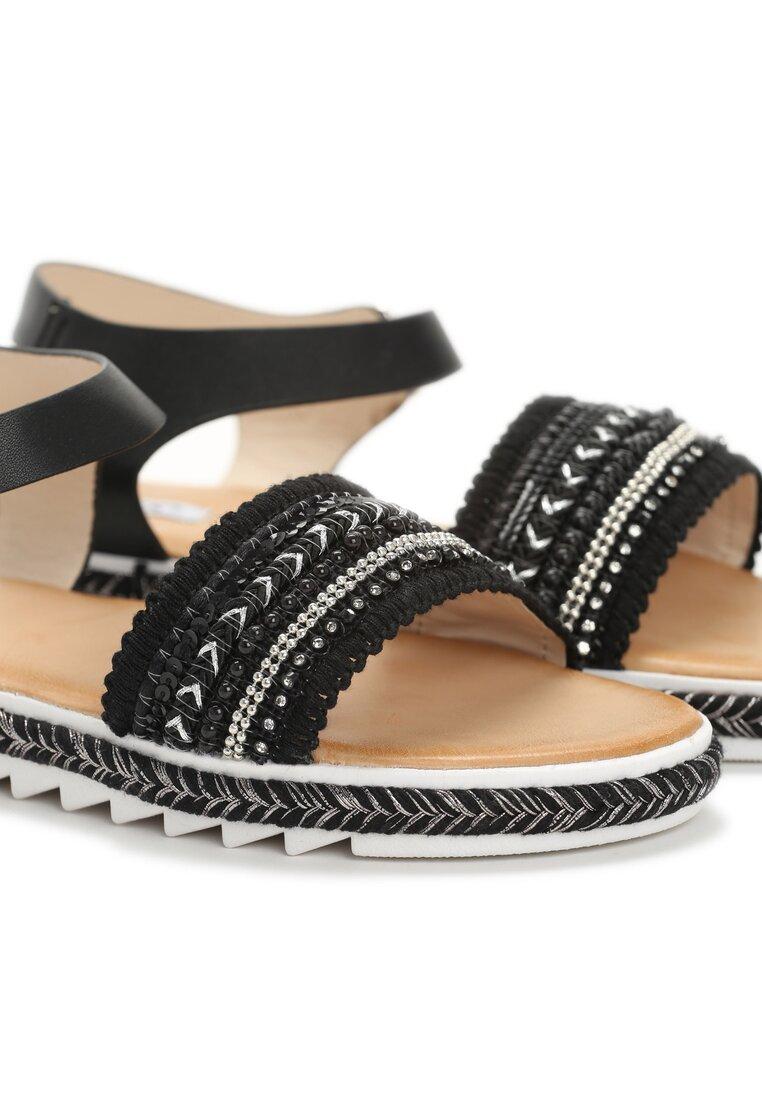 Czarne Sandały Blessings