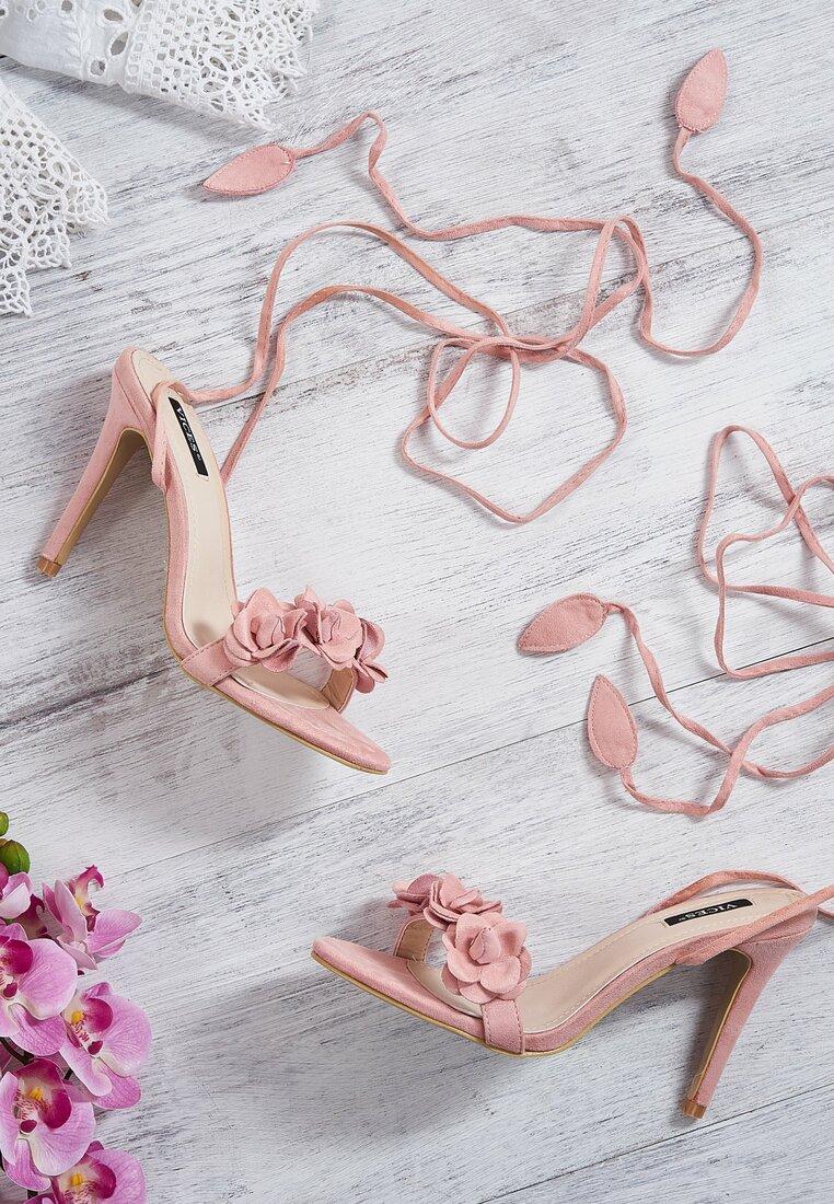 Różowe Sandały Boteh