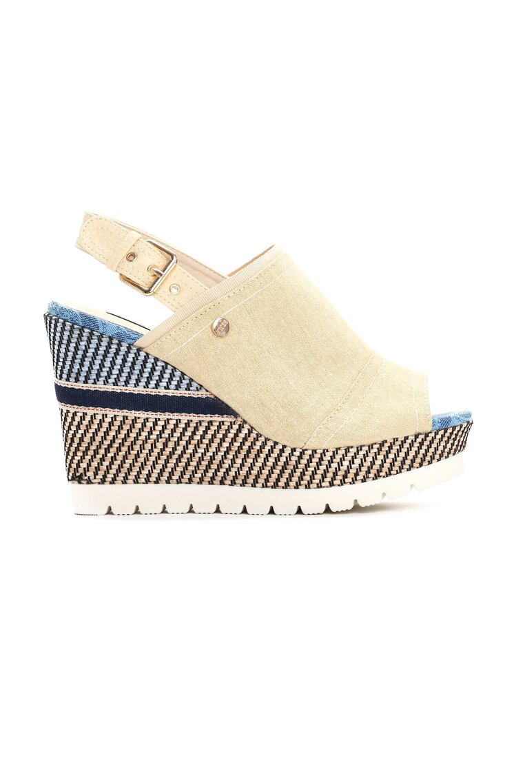Beżowe Sandały Get Lucky