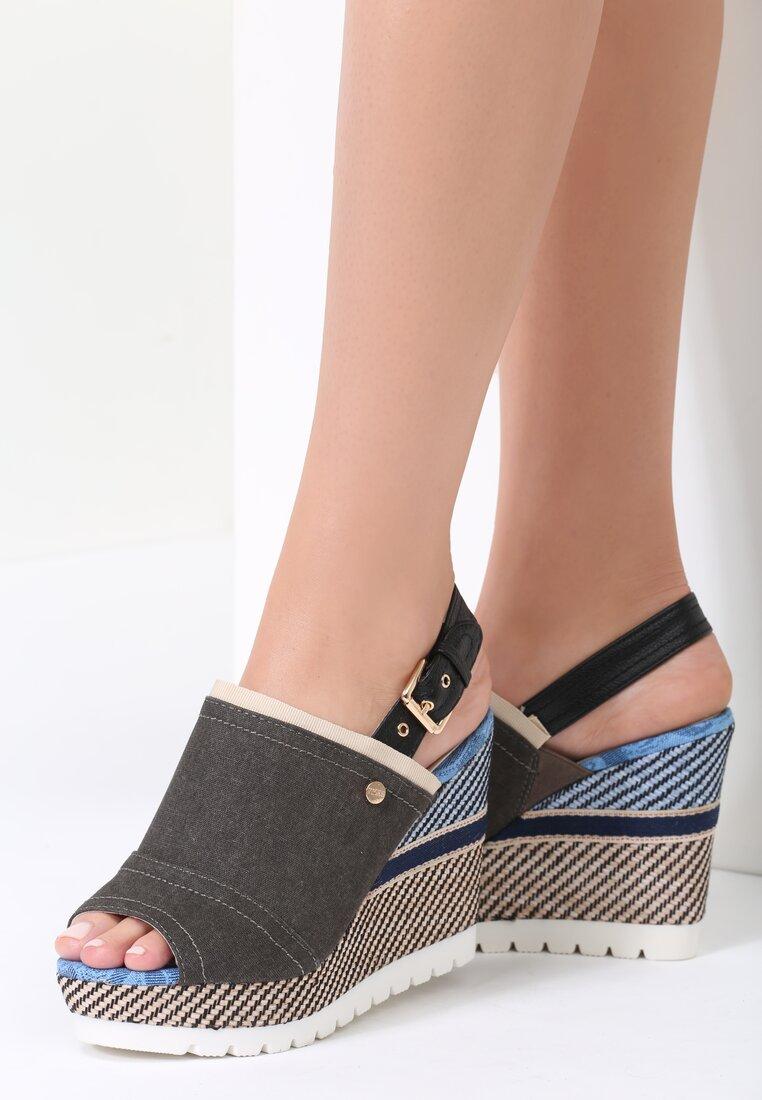 Czarne Sandały Get Lucky