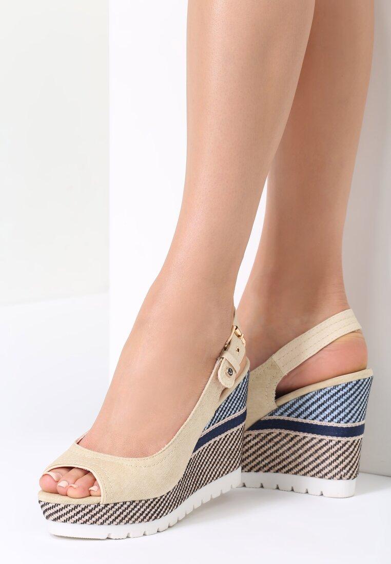 Beżowe Sandały Trellis