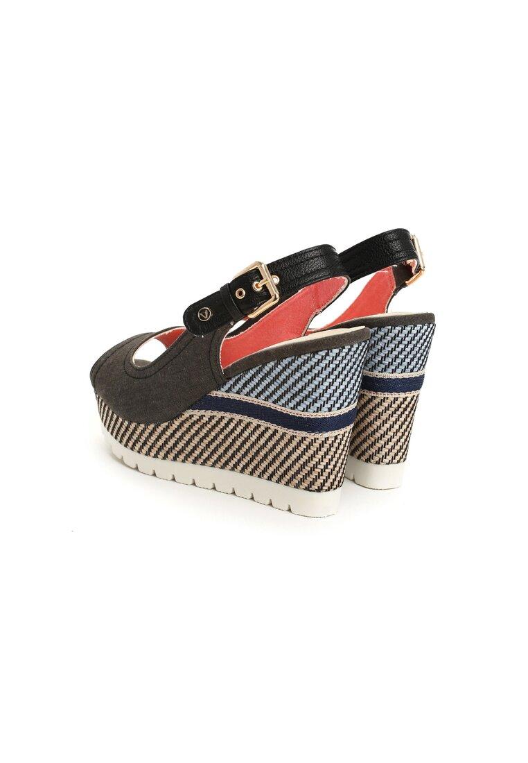 Czarne Sandały Trellis