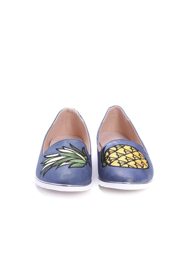 Granatowe Mokasyny Pineapple