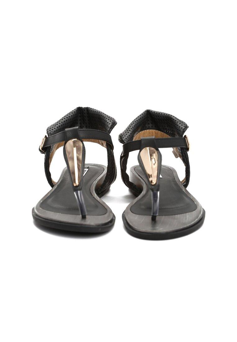 Czarne Sandały Hung Up