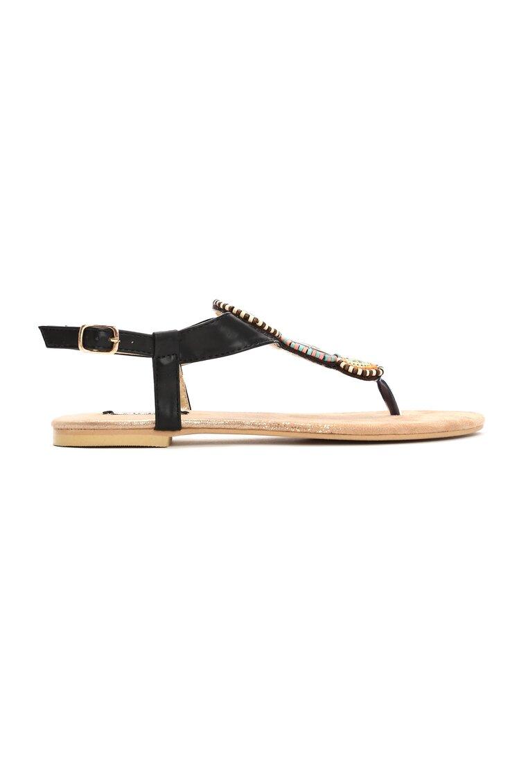 Czarne Sandały Secret