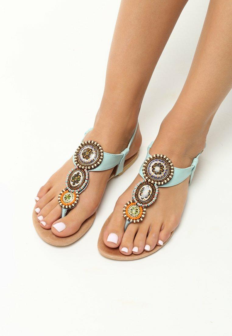 Janoniebieskie Sandały Secret