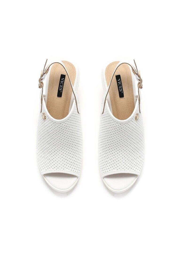 Białe Sandały Shopaholic