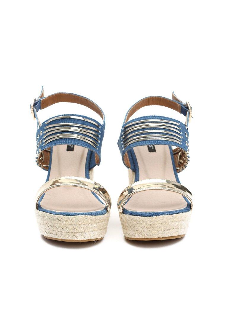 Niebieskie Sandały Wafture