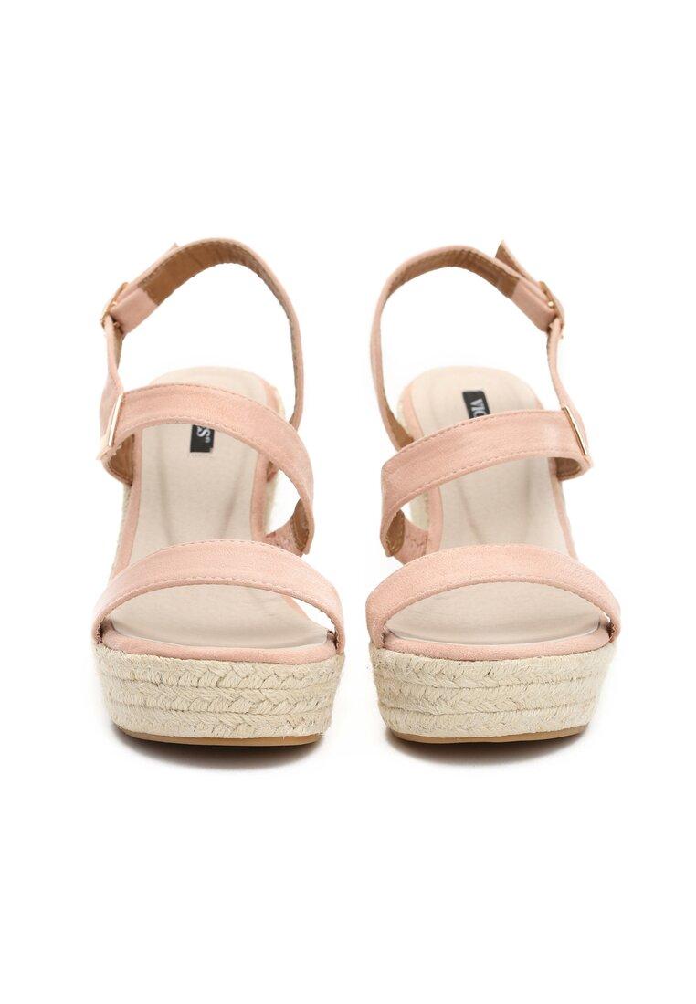 Różowe Sandały Upcast