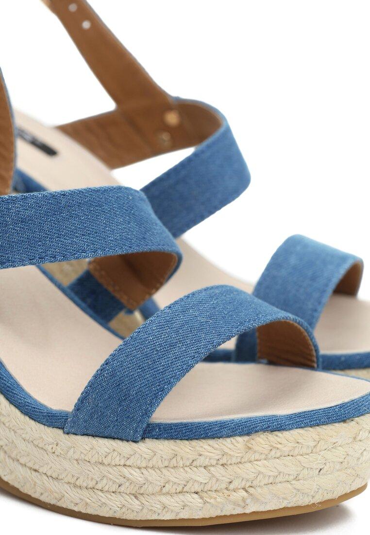 Niebieskie Sandały Upcast