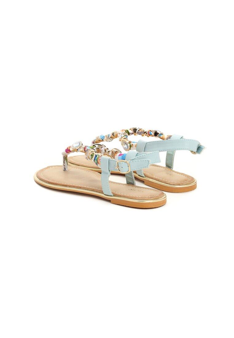 Niebieskie Sandały Dezel