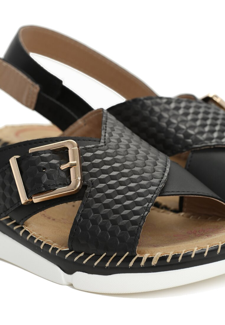 Czarne Sandały Satisfied