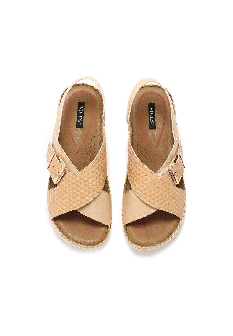 Beżowe Sandały Satisfied