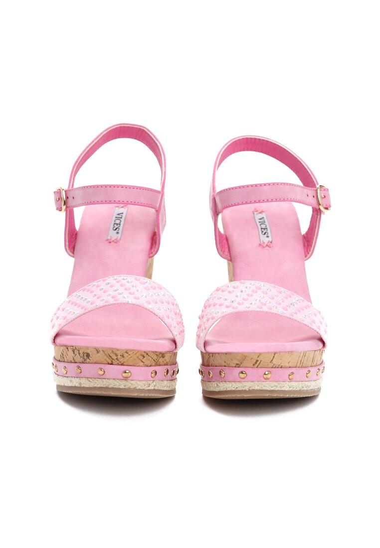 Różowe Sandały Strive