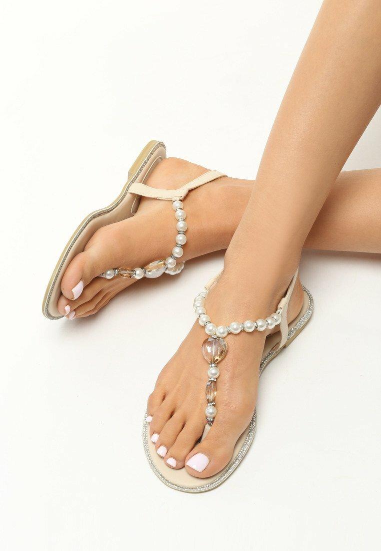 Beżowe Sandały Elastic Heart
