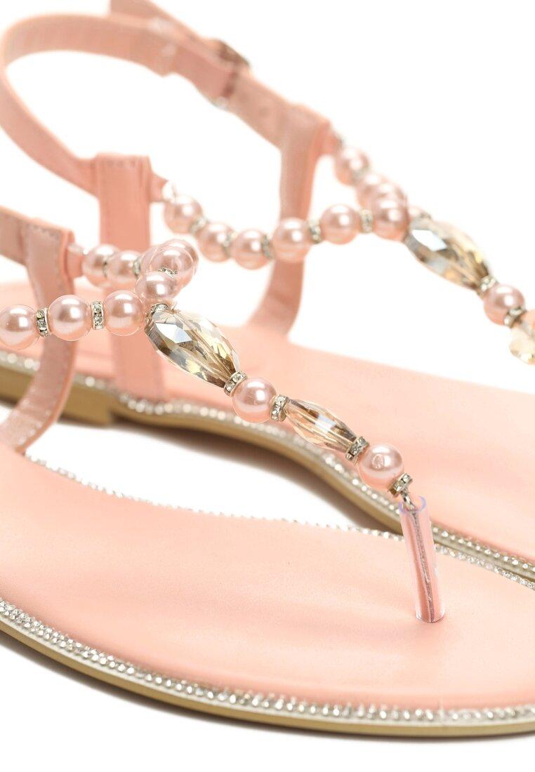 Różowe Sandały Elastic Heart