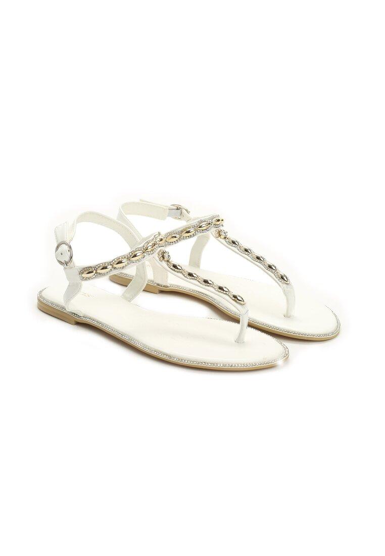 Białe Sandaly Never Stop