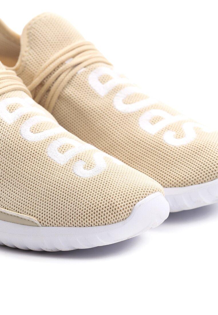 Beżowe Buty Sportowe Entien