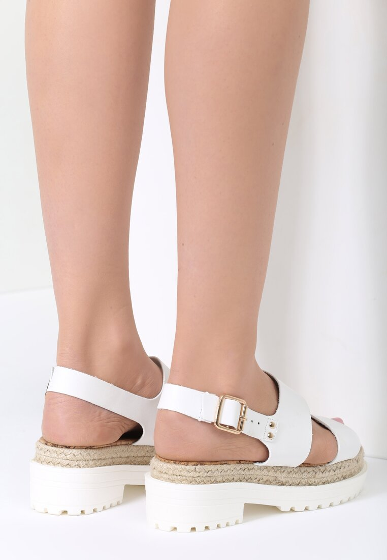 Białe Sandały Super Power