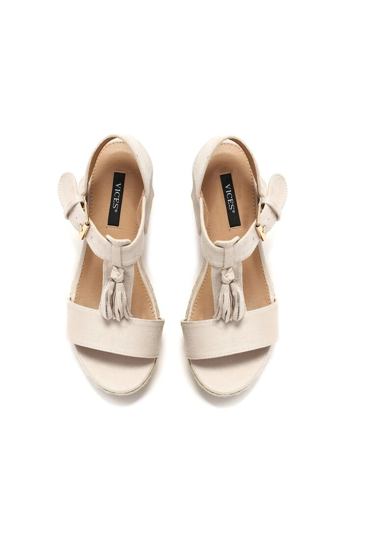 Jasnobeżowe Sandały Impression