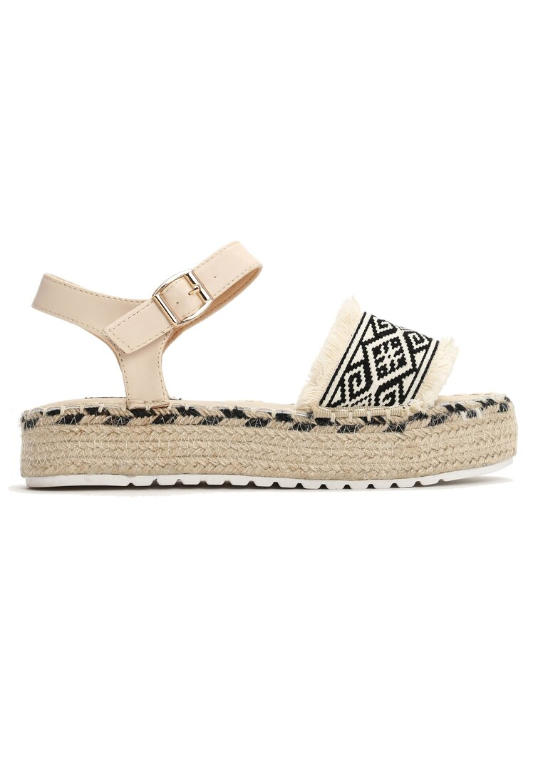 Beżowe Sandały New Age