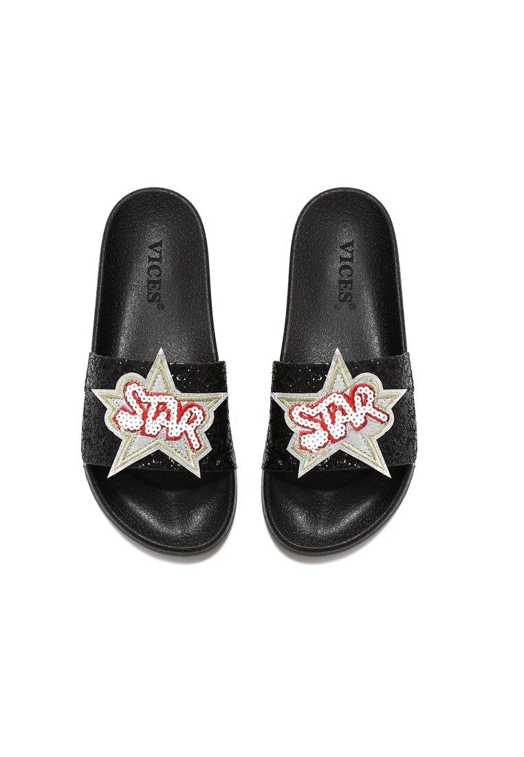Czarne Klapki Star