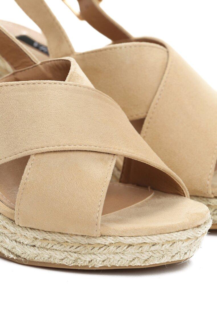 Beżowe Sandały Madame