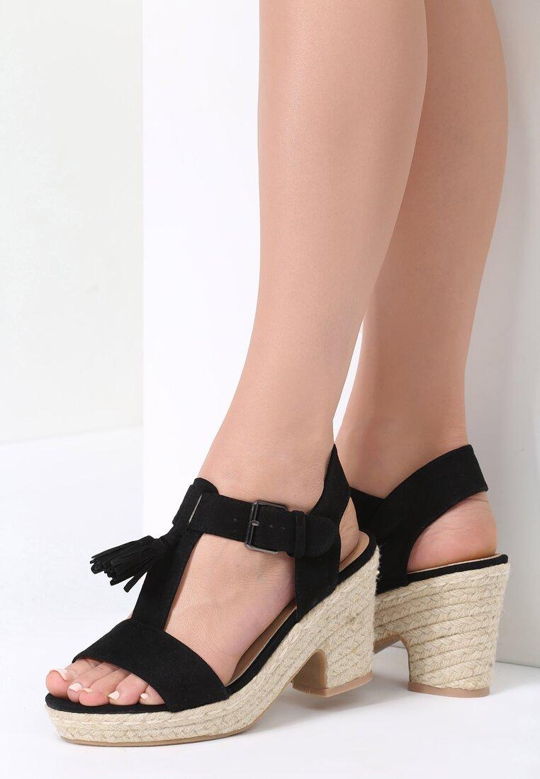 Czarne Sandały Impression
