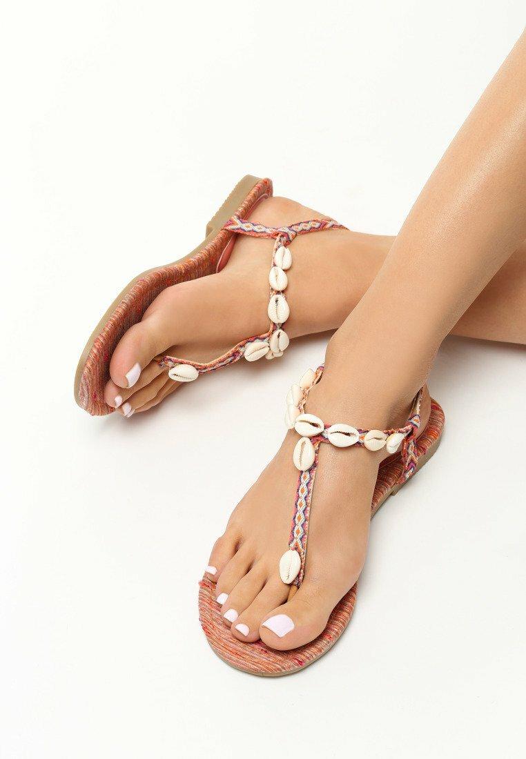 Pomarańczowe Sandały Luxuriant