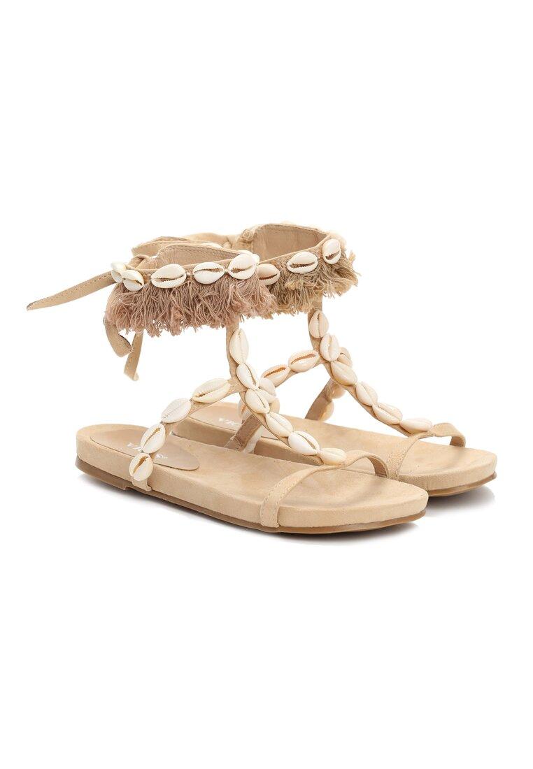 Beżowe Sandały Mistresses
