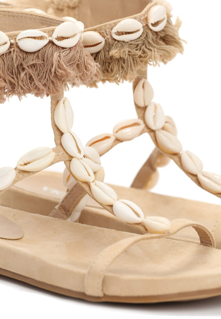 Beżowe Sandały Botanical