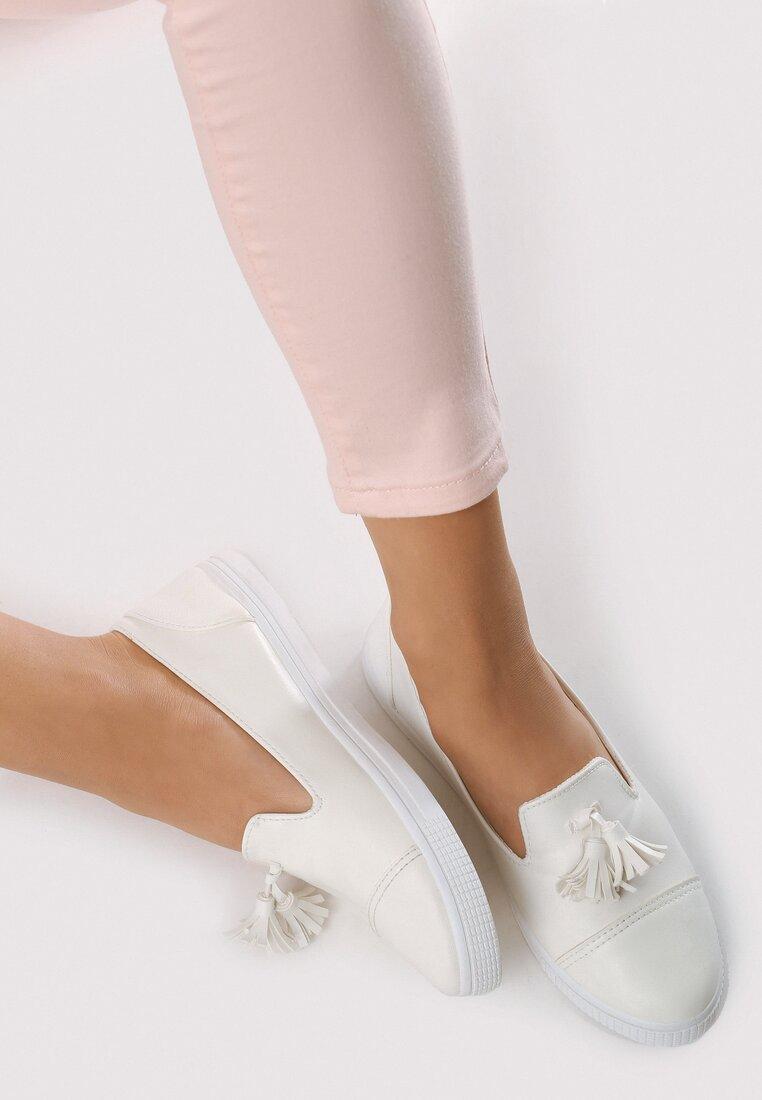 Białe Slip On Leila