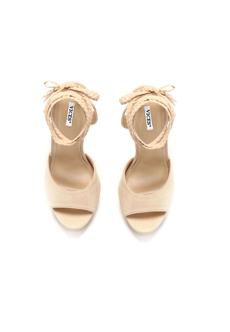 Beżowe Sandały Aqua Vitae