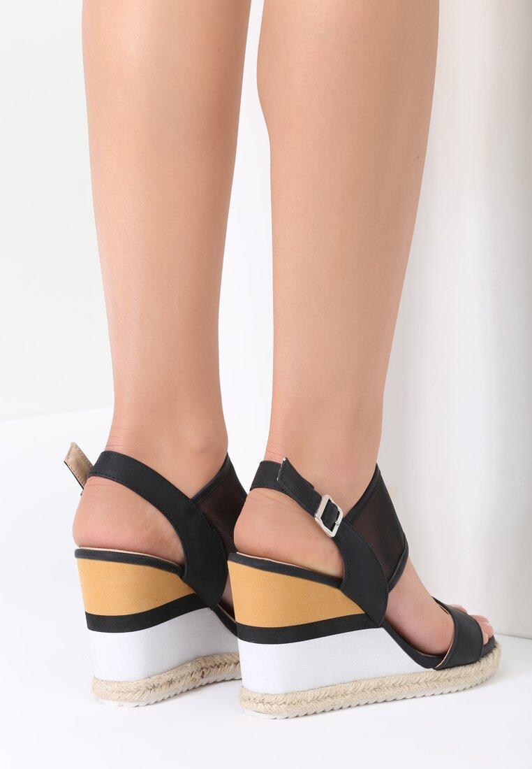 Czarne Sandały Brumous