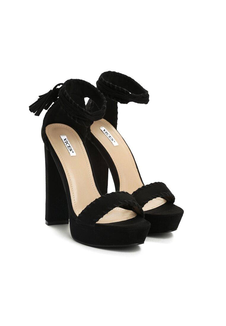 Czarne Sandały Sedated