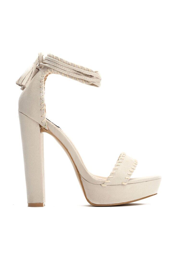 Beżowe Sandały Sedated