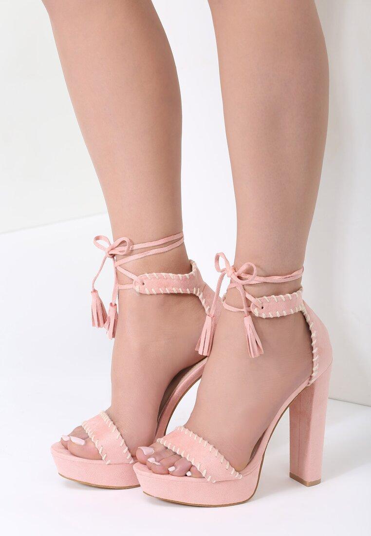 Różowe Sandały Belong To Catwalk