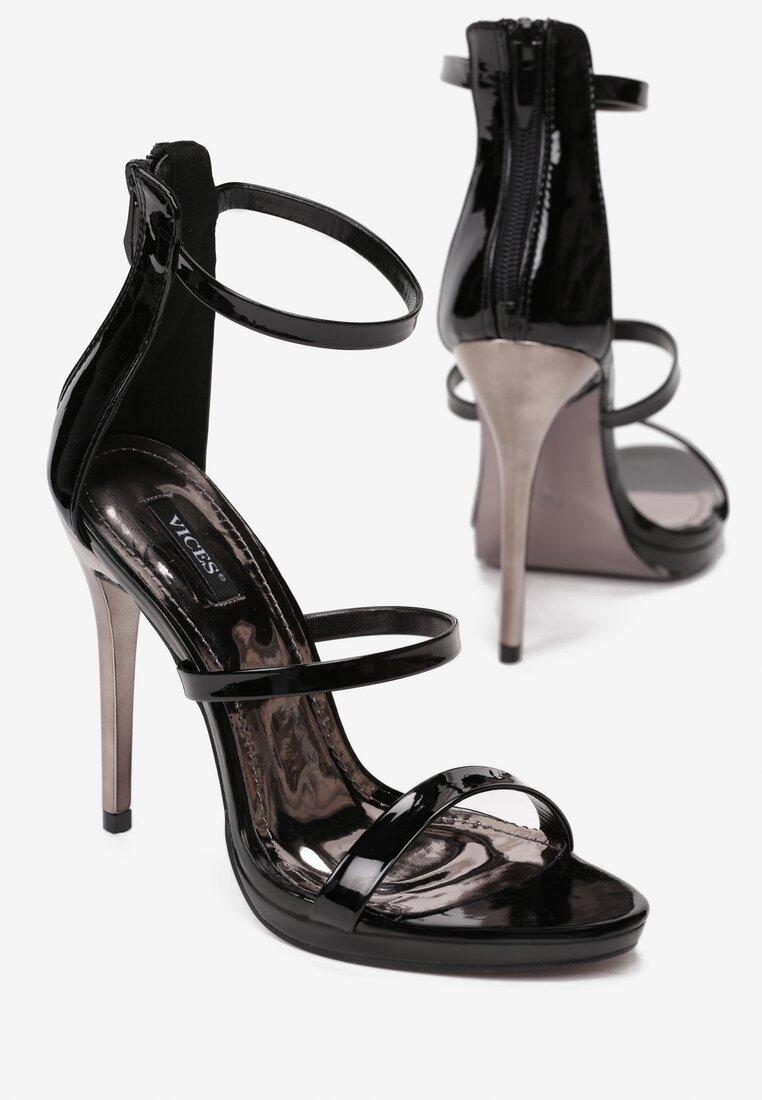 Czarne Sandały Carnivals Kisses