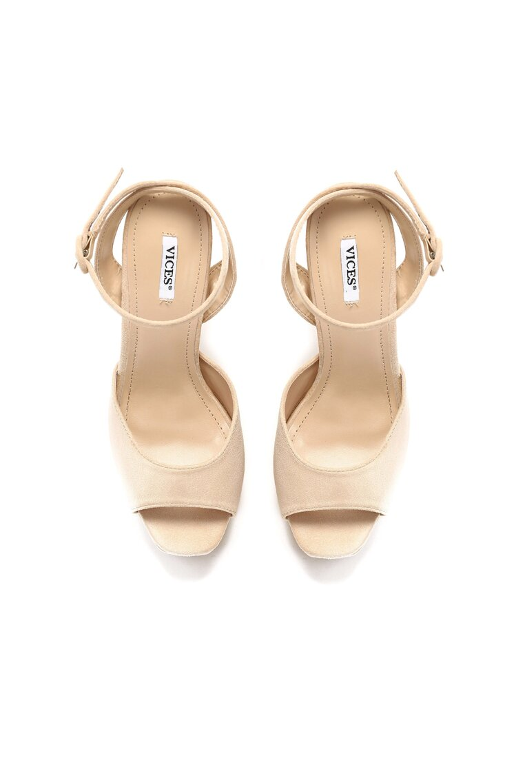 Beżowe Sandały Korel