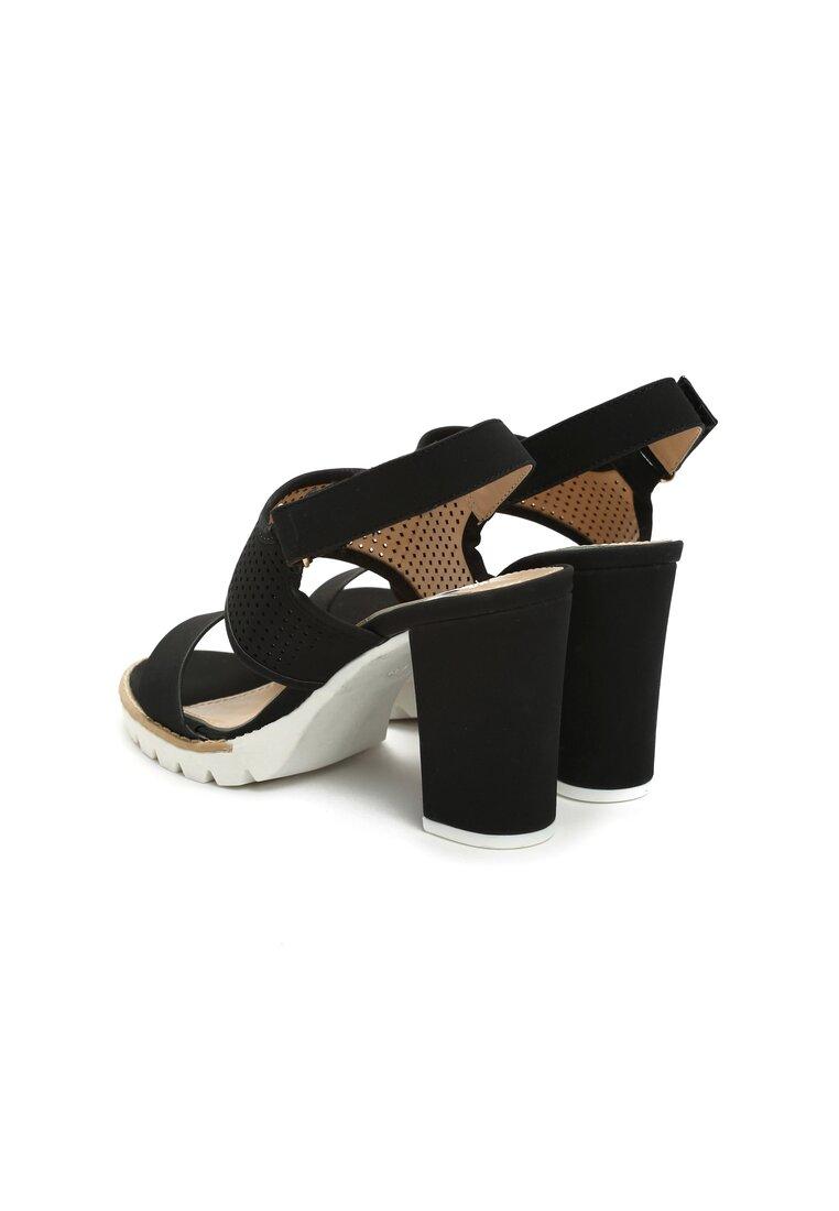 Czarne Sandały Higher